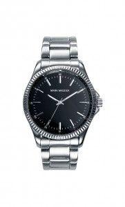 Colección Timeless luxury - HM0003-57. Reloj tres agujas brazalete con esfera negra. Cierre desplegable. Cristal mineral. Impermeable 30m (3ATM). Precio: 45,00 €