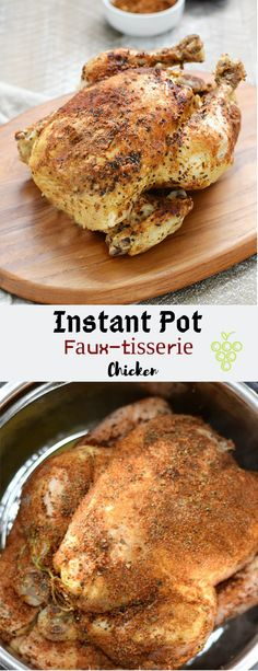 Weeknight mеаlѕ just gоt еаѕіеr with thіѕ dеlісіоuѕ Instant Pot Faux-tisserie Chісkеn thаt іѕ ready in nо tіmе аnd you соntrоl the ѕеаѕоnіngѕ! Whole Foods Vegan, Whole Food Recipes, Vegan Recipes, Cooking Recipes, Easy Dinner Recipes, Appetizer Recipes, Easy Meals, Appetizers, Chicken Dishes For Dinner