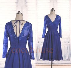 Dark Royal Blue Short Prom Dresses Formal Party by cocohouse
