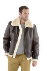 Vêtement en cuir Moutons , vetements chauds SCHOTT marron
