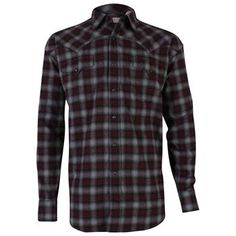 Stetson Men's Long Sleeve Flanel Western Shirt