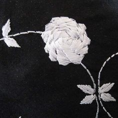 Silk Rose Embroidered Shantung Fabric – Designer Fabric by The Yard