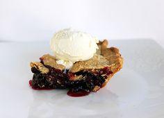 Rhubarb Saskatoon Pie - The Kitchen Magpie Saskatoon Recipes, Saskatoon Berry Recipe, Serviceberry Recipe, Blueberry Rhubarb Pie, Pie Dessert, Dessert Recipes, Healthy Sweet Treats, Rhubarb Recipes, Sweet Cakes