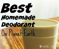 Homemade deodorant that works!
