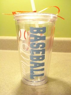 Baseball Mom Personalized Tumbler by Sammieslettering on Etsy, $12.00