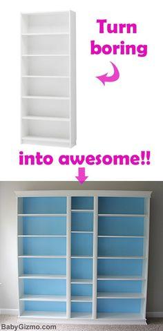 ikeaDIY DIY Ikea Playroom Built-in Billy Bookcase
