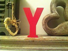 Freestanding Wooden Letter 'Y'   25cm  Ariel by LoveLettersMe, £9.95
