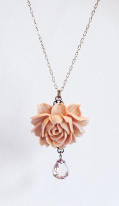 Statement Necklace Peach Jewelry