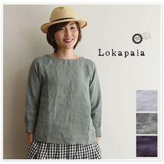 【Lokapala ロカパラ/ローカパーラ】<br>ベルギー リネン ブラウス (ld160109)