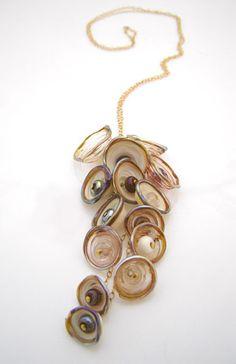 by Israeli glass artist Anat Sapir #necklaces #jewelry