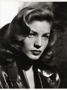 Film Noir was a film movement that was particularly popular post-WWII. Why am I talking about film noir? Well, most Film Noir films featured. Old Hollywood Glamour, Golden Age Of Hollywood, Vintage Hollywood, Hollywood Stars, Classic Hollywood, Lauren Bacall, Lauren Conrad, Classic Beauty, Timeless Beauty