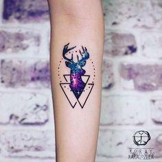 Tattoo artist by @koray_karagozler #tattoos #tattooed #tattoo #tattu #tattooartist #tattuaggio #amazingink #amazing #dövme #designers #drawing #sketch #tattooshop #art #blacktattooart #paint #painting #color #stylized #tatts #tattooer #tattooart #illustration #cizim #watercolor #watercolortattoo #ink #deertattoo #deer