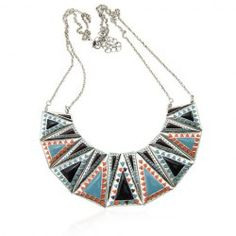 $8.65 Exotic Style Triangle Pattern Design Women's Multi-Layered Necklace