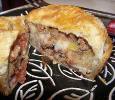 French Tart: Traditional English Beef & Potato Picnic Pies - Pasties
