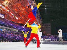 Antonio Pardo, Venezuela Alpine Skier, Charms with Opening Ceremony Dance