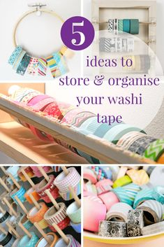 5 ways to display & organise your washi tape collection - The Paperdashery Washi Tape Crafts, Decorative Tape, Craft Room Storage, Life Organization, 5 Ways, Girly, Display, Crafty, Dns