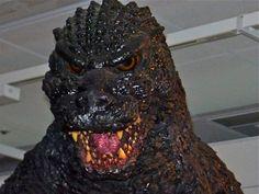 Heisei Godzilla suit close-up.  Love the Teeth. https://www.facebook.com/groups/136983692987284/