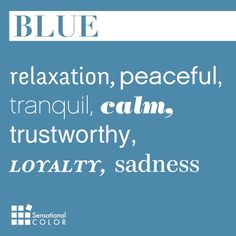Words That Describe Blue