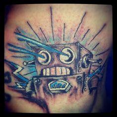 Robot Tattoo by OBIT