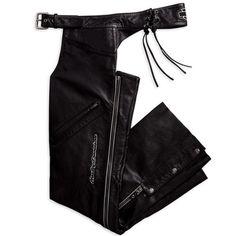 #reflective-leather-chap  Women's Vests #2dayslook #fashion #Vests www.2dayslook.com
