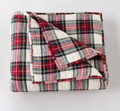 Pendleton Aberdeen Quilted Throw in Stewart Tartan is perfect for bed linen layering on cold winter nights. $165 including free shipping.