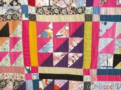 This SHOW STOPPER Pennsylvania beauty highlights an awesome display of color! If you enjoy quilts with colors and unique design, this will be a treasure in your collection. Circa 1930s era.