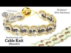 Cable Knit Bracelet YouTube Tutorial, supplies from Potomac Bead Company (www.potomacbeads.com)