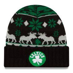 Boston Celtics New Era NBA Mosser Cuffed Knit Hat - Kelly Green