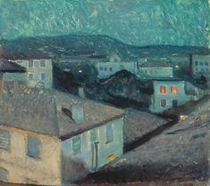 Edvard Munch (Norwegian, 1863-1944), Night in Nice, 1891. Oil on canvas, 48 × 54 cm.