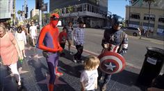Meeting my superheros, Transformers, Superman, Spiderman, Captain America
