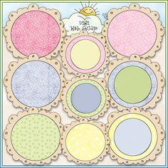 Pastel Circle Doodle Frames 1 - NE Cheryl Seslar Clip Art : for baby shower crafts http://digiwebstudio.com/store/index.php?main_page=product_info_id=9040_of_uploads=0