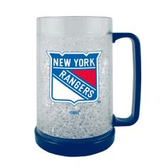 Boelter NHL 16 Ounce Freezer Mug - New York Rangers. Keep In The Freezer So Your Next Beverage Is Ice Cold! This 16Oz Double-Walled, Acrylic Mug Is Insulated With Crystals, And Is Decorated With Team-Colored Handle And Base. Mug Is Bpa-Free And Highly Durable.  Boelter NHL 16 Ounce Freezer Mug - New York RangersSport Theme: HockeyLeague: NHLTeam: New York Rangers