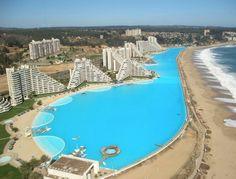 World's LARGEST swimming pool -- Algarrobo, Chile