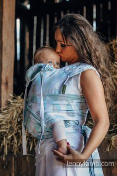 467d21d78dc1 WRAP-TAI carrier Toddler with hood  jacquard twill   100% cotton   PAINTED  FEATHERS WHITE   TURQUOISE (grade B)  babywearing
