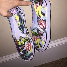 H&M patterned slip on shoes Jungle patterned H&M slip on sneakers! Never worn before! H&M Shoes Sneakers