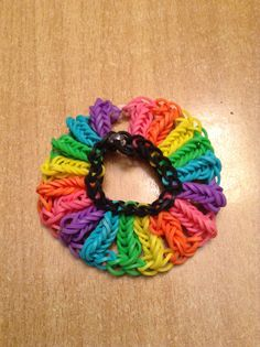 Rainbow loom bracelet that I designed