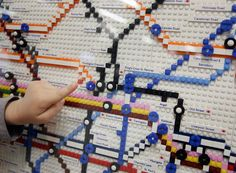 London Tube Map in Lego
