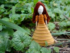 Carmela Toothpick Doll $7.50 Her dress is like creamy caramel (well, not really, it's thread)