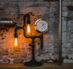 Upcycled TAG Gauge Pipe Lamp  https://www.upcycledcreative.co.uk/online-upcycling-shop/upcycled-tag-gauge-pipe-lamp