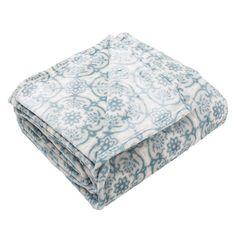 Tasha Collection Plush Fleece Luxury Blanket, Blue