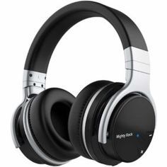 1571d3421ed Mighty Rock Active Noise Cancelling Headphones Over Ear Bluetooth Headphones  Price: $68.99 With Deal: