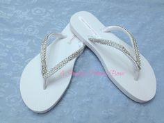Rhinestone Flip Flops Womens Girls Bridal by APricelessPrincess, $19.95