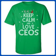 Keep Calm And Love Ceos Jobs Ugly Christmas Sweater - Adult Shirt - Holiday and seasonal shirts (*Amazon Partner-Link)