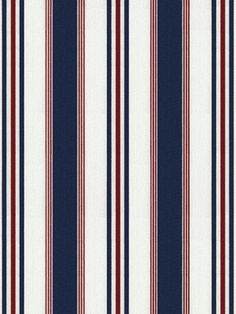 Ralph Lauren Fabric - Highrock Stripe - Red White Blue at DecoratorsBest #decor