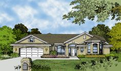 This 1 story Contemporary features 2560 sq feet. Call us at 866-214-2242 to talk to a House Plan Specialist about your future dream home!