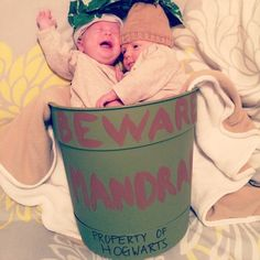 Baby twin mandrake Halloween costume. So cute! #twins #atwells #happilyeveratwellblog #halloween #harrypotter #mandrakes