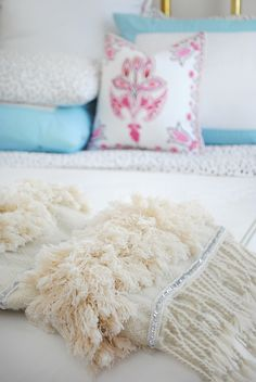 DIY Moroccan wedding blanket using only three basic supplies