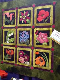 WoolyLady New Block of the Month coming soon. Wool applique wall quilt.