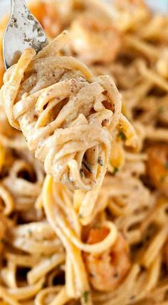 Want a quick weeknight recipe that you can cook up in minutes with a made from scratch sauce that is to die for? This Cajun Shrimp Pasta will quickly become your new favorite when you are craving something creamy and spicy! Cajun Shrimp Recipes, Cajun Shrimp Pasta, Fish Recipes, Seafood Recipes, Cooking Recipes, Chicken Pasta, Seafood Linguine, Curry Shrimp, Pizza Recipes