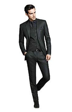 Men's Black Groom Tuxedos Business Best Man Slim Fit Formal Wedding Suit Custom Made (S) CustomMade http://www.amazon.com/dp/B013SJ6YEK/ref=cm_sw_r_pi_dp_-ikdwb0J8MN1X